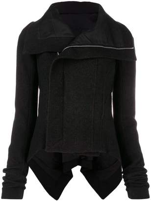 Rick Owens off-centre zipped jacket
