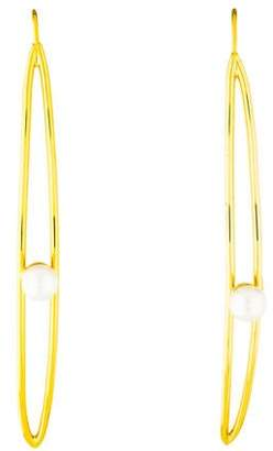 Kacey K Faux Pearl Drop Earrings
