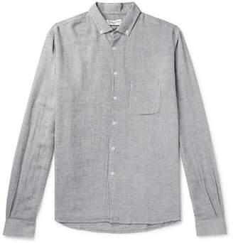 YMC Slub Chambray Shirt - Men - Light blue