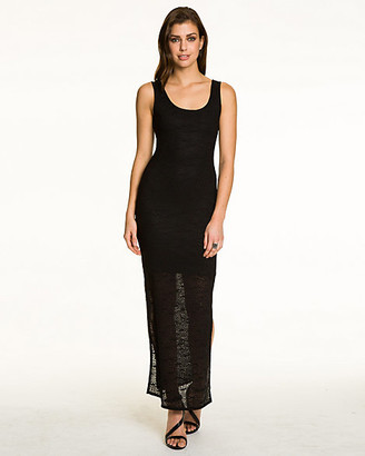Le Château Crochet Scoop Neck Maxi Dress