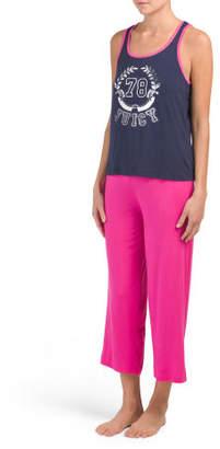 Tank And Logo Pant Pajama Set