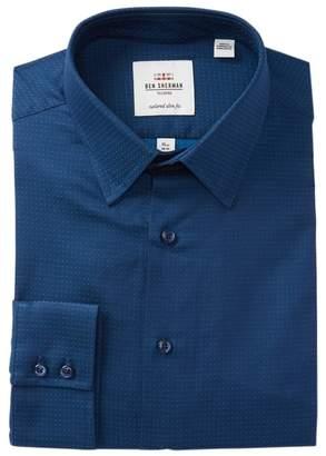 Ben Sherman Solid Dobby Tailored Slim Fit Dress Shirt
