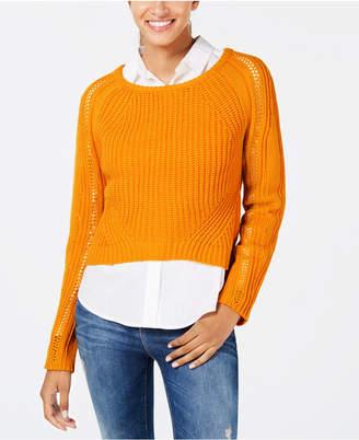 Freshman Juniors' Cropped Sweater