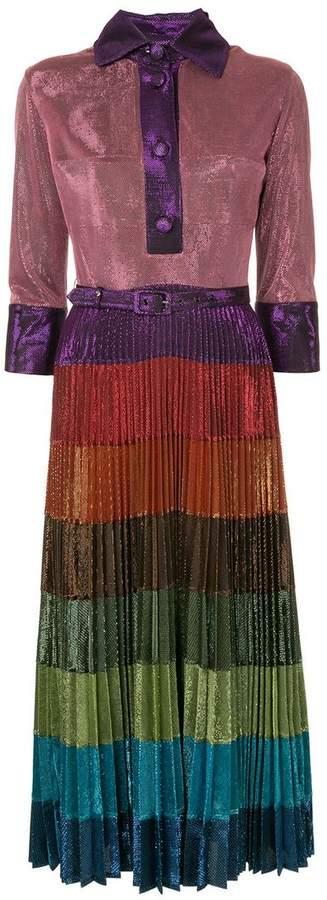 Cosmic Disco pleated dress