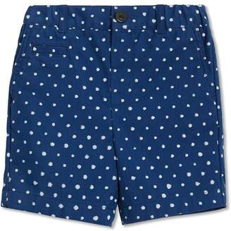 Burberry Spot Print Cotton Blend Shorts