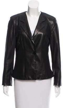 Armani Collezioni Tailored Leather Jacket