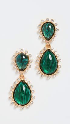 Kenneth Jay Lane Emerald Teardrop Earrings