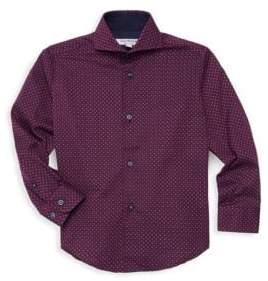 Boy's & Litte Boy's Dot Print Dress Shirt