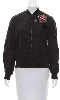 Cinq à Sept Embroidered Bomber Jacket