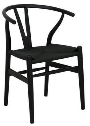 Bisque Wishbone Chair Black