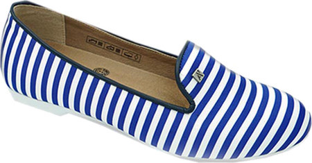 AK Anne Klein Women's Arcopedico Stripe Smoking Flat