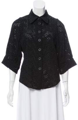 Chloé Eyelet Short Sleeve Jacket