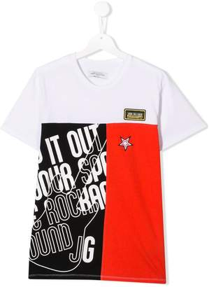 John Galliano TEEN colour-block T-shirt