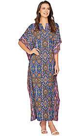 Joan Rivers Classics Collection Joan Rivers Petite Length Spice Market JerseyKnit Caftan