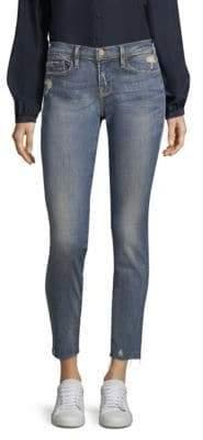 Frame Le Skinny Jeanne Frayed Hem Jeans