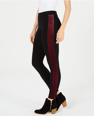 Style&Co. Style & Co Velour-Stripe Pull-On Leggings