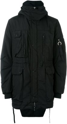 Marcelo Burlon County Of Milan fishtail hem hooded parka $1,455 thestylecure.com