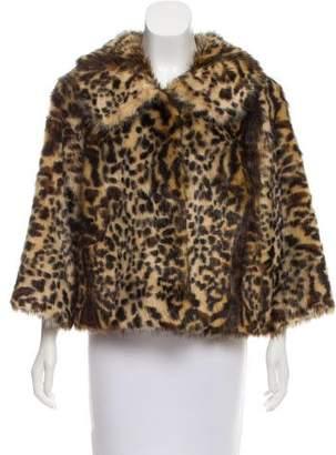Adrienne Landau Printed Faux Fur Jacket