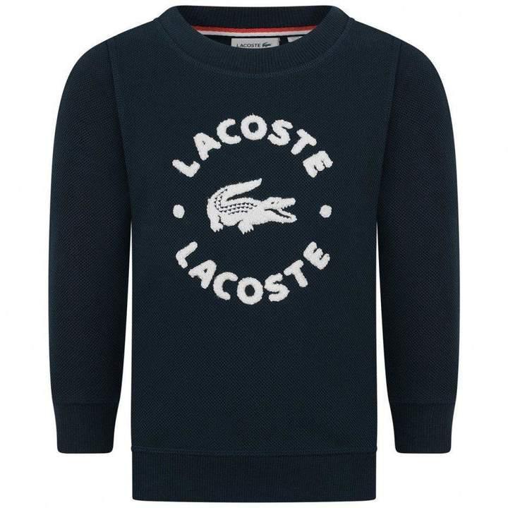 LacosteBoys Navy Logo Sweater