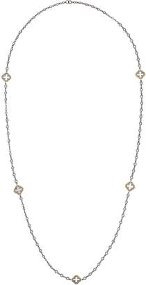 Freida Rothman Framed Clover Cutout Long Necklace