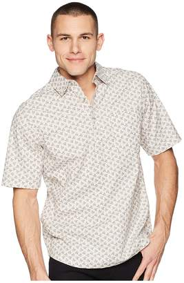 Woolrich Modern Fit Eco Rich Midway Printed Shirt Men's Short Sleeve Button Up