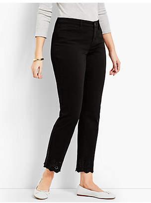 Talbots Scallop-Hem Denim Slim Ankle - Curvy Fit/Black