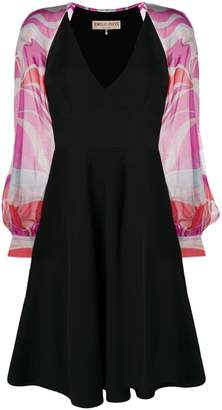 Emilio Pucci printed sleeves dress