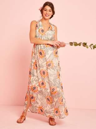895413c7ae Vertbaudet Long Maternity Dress, Floral Print