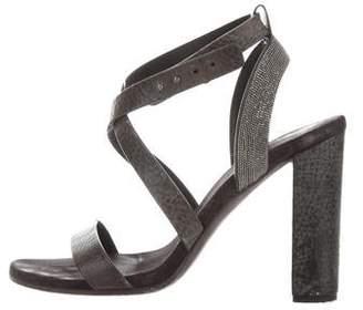 Brunello Cucinelli Monili Embellished Sandals