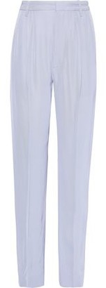 Iris & Ink Rae Pleated Twill Straight-leg Pants