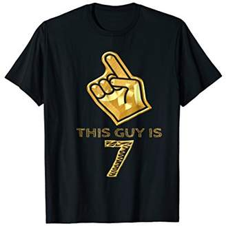7 Years Old 7th Gold Birthday Boys Gift T-Shirt