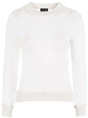 Topshop Sheer Sweatshirt $68 thestylecure.com