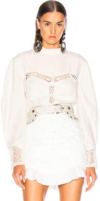 Isabel Marant Lyneth Top in White | FWRD