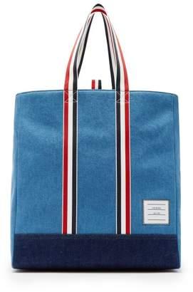 Thom Browne Denim Tote Bag - Mens - Blue