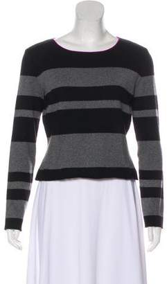 Chanel Cashmere & Silk-Blend Striped Sweater