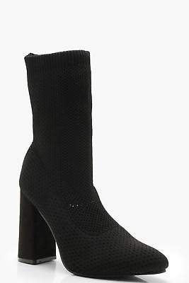 boohoo NEW Womens Knitted Sock Boots in