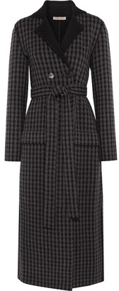 Bottega Veneta - Houndstooth Wool And Cashmere-blend Coat - Dark gray $3,700 thestylecure.com