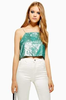 38432208976cd Topshop Sequin Top - ShopStyle Australia
