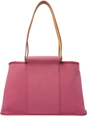 Hermes Women's Purple Toile Cabag Elan Shoulder Bag