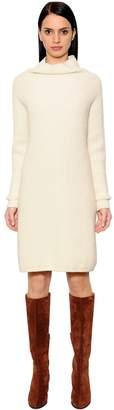 Max Mara Wool & Cashmere Rib Knit Dress