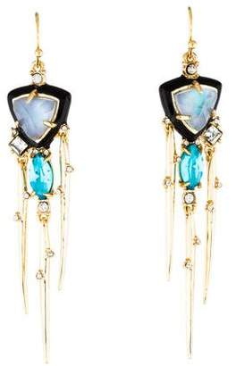Alexis Bittar Mother of Pearl Doublet Spike Tassel Earrings