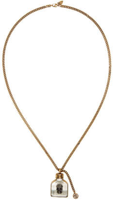 Alexander McQueen Gold Skull Charm Necklace