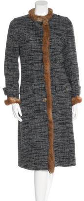 Dolce & Gabbana Fur-Trimmed Long Coat $395 thestylecure.com