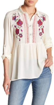 Forgotten Grace Collar Embroidered Blouse