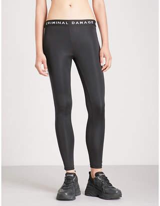 Criminal Damage Oregon stretch-jersey leggings