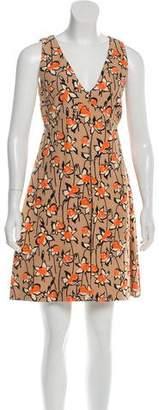 Miu Miu Floral Pleat Dress