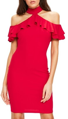 Women's Missguided Ruffle Body-Con Dress $62 thestylecure.com