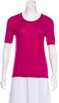 Lela Rose Cashmere Short Sleeve Top