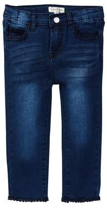 Jessica Simpson Lace Trim Denim Jean (Little Girls)