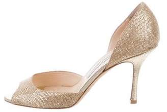 Jimmy Choo Glitter D'Orsay Pumps